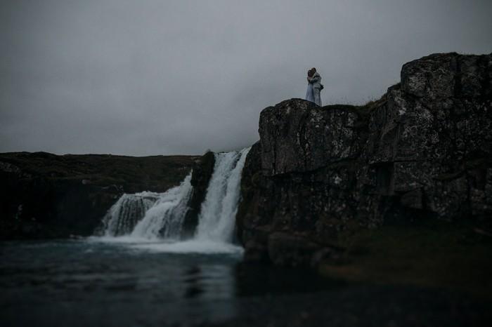 Waterfall-wedding-Iceland