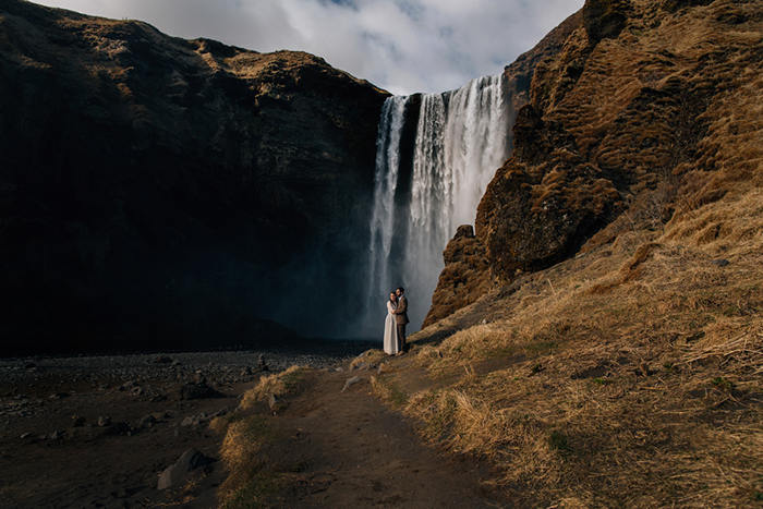 Skogafoss-waterfall-wedding